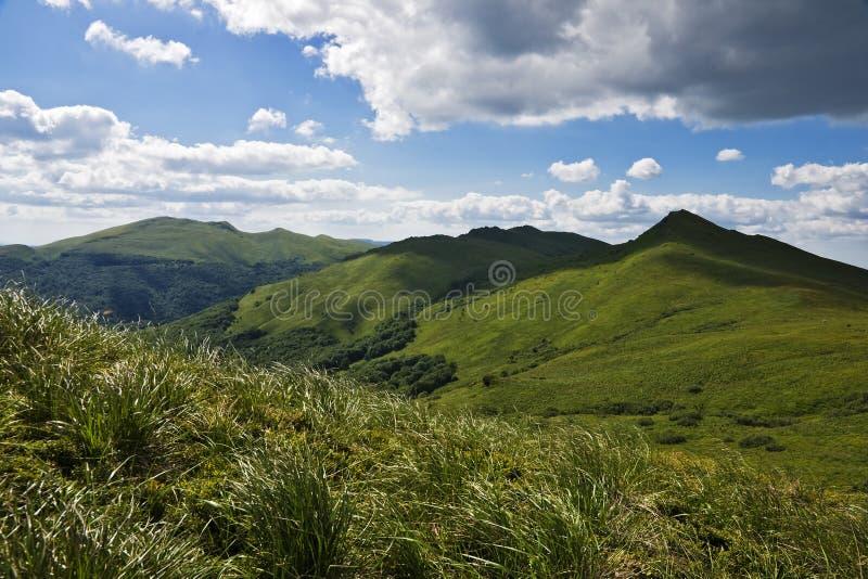 panoramiczne bieszczady góry obrazy stock