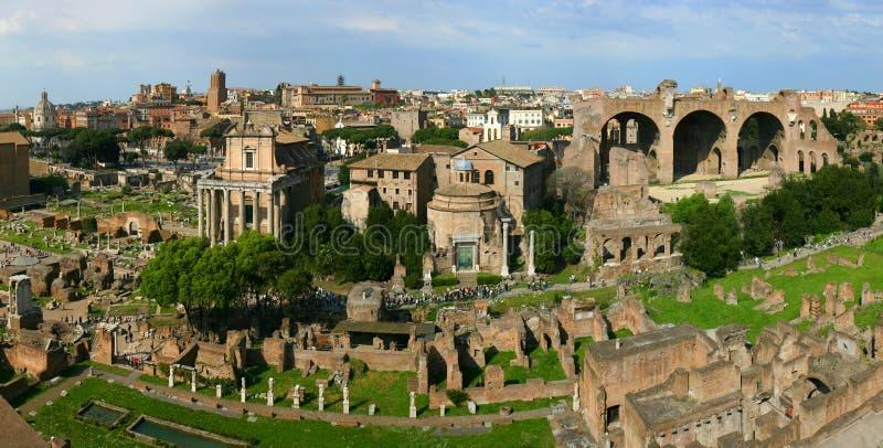 panoramiczne rzymskie ruiny zdjęcia royalty free