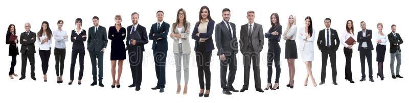 Panoramiczne zdjęcie profesjonalnego, licznego zespołu biznesowego fotografia royalty free