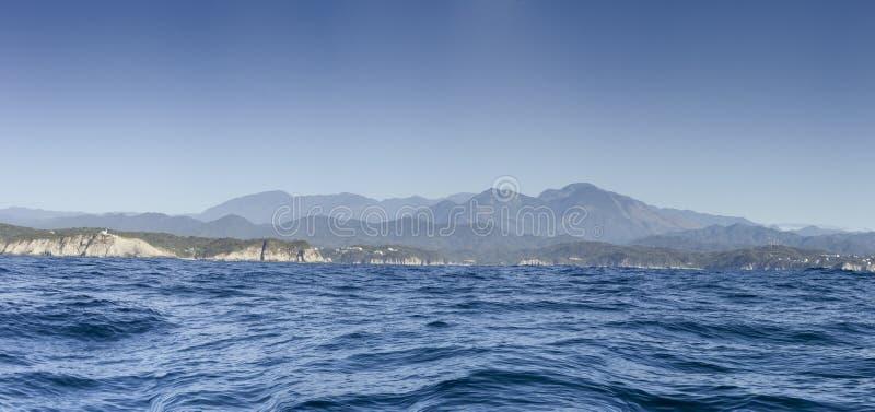 panoramicznego widoku huatulco zatoki Meksyk zdjęcie royalty free