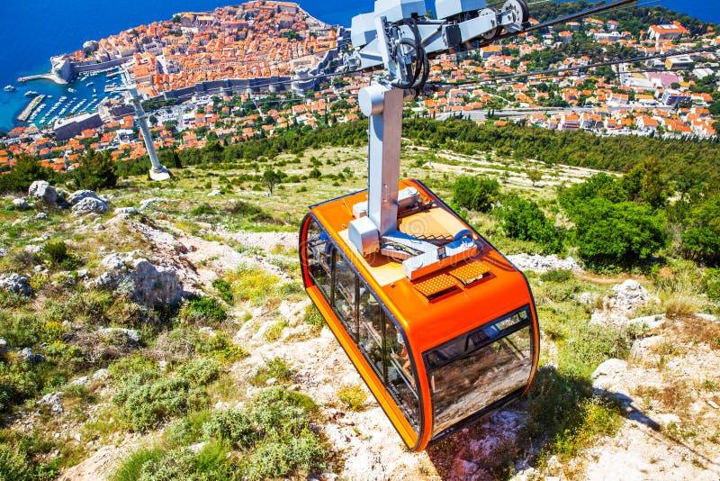 Panoramicznego widoku Stary miasteczko Dubrovnik zdjęcie royalty free