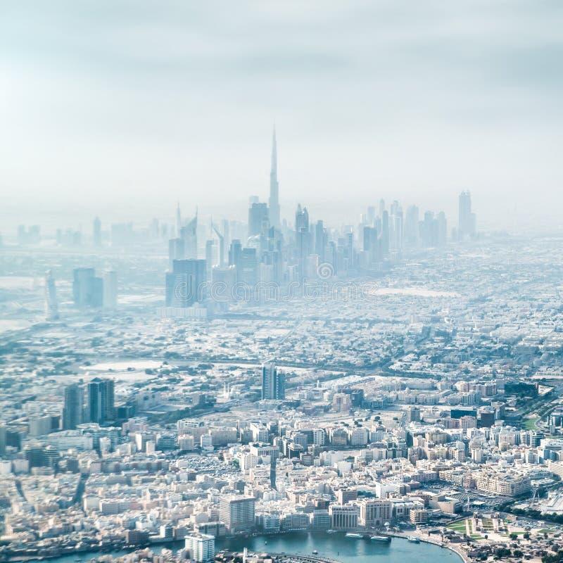 Panoramiczni widoki Dubaj obrazy royalty free