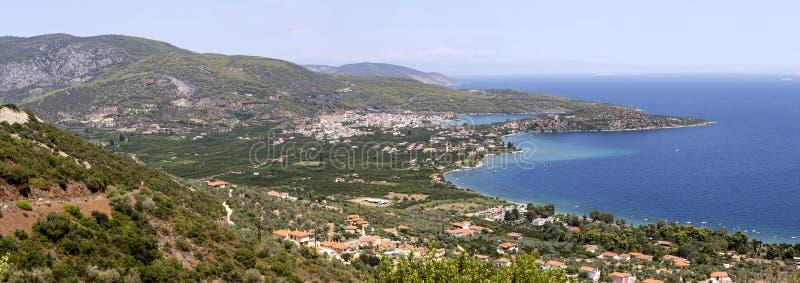 Panoramiczni widoki morze góry zdjęcia stock