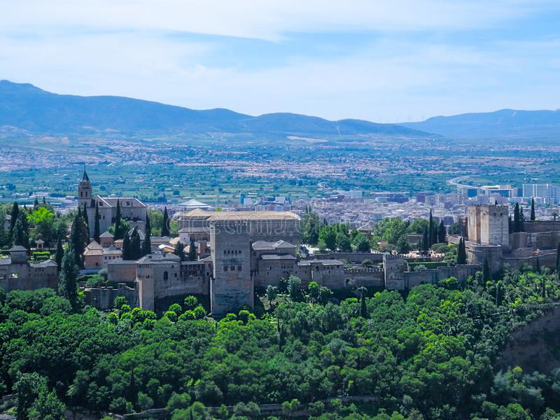 panoramiczny Alhambra widok fotografia royalty free
