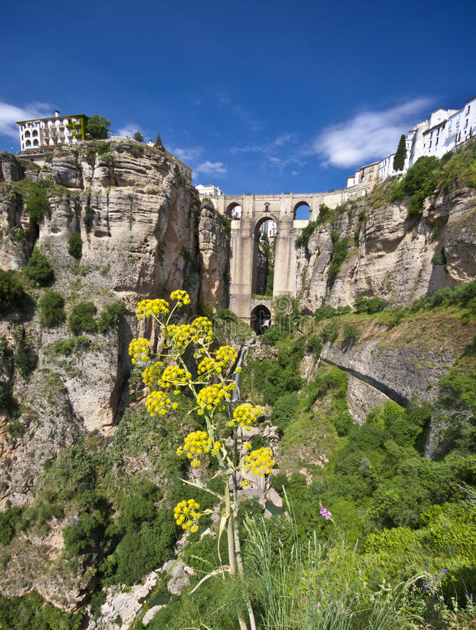 panoramiczny Andalusia widok Ronda Spain obrazy royalty free