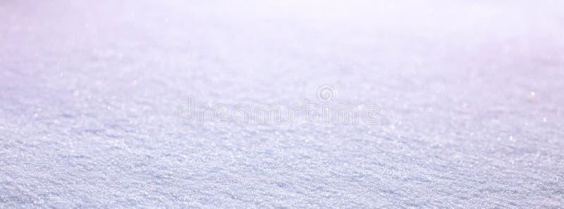 Panoramiczny Błękitny piękny natury zimy śniegu tło obrazy stock