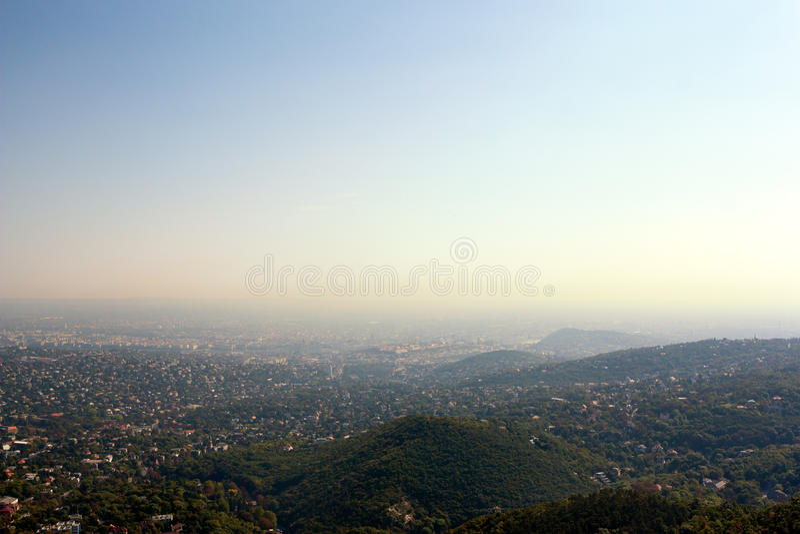 panoramiczny Budapest widok Hungary zdjęcia stock