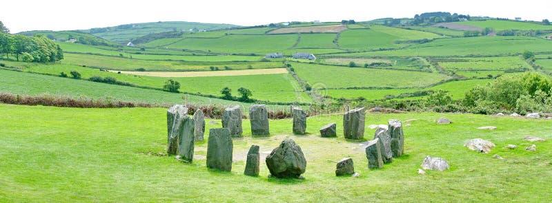 Panoramiczny Drombeg kamienia okrąg obraz royalty free