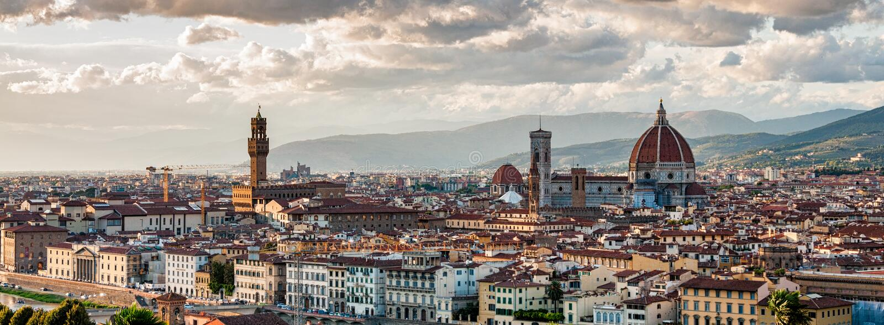 panoramiczny Florence widok zdjęcie stock