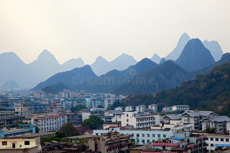 panoramiczny Guilin widok obrazy stock