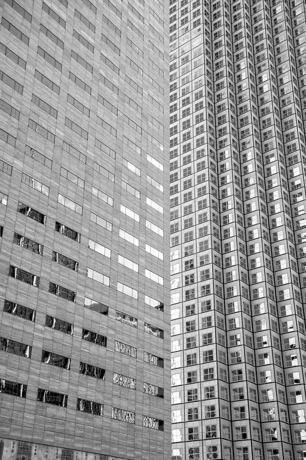 Panoramiczny i perspektywiczny szeroki kąta widok stalowego błękita backgrou obrazy stock