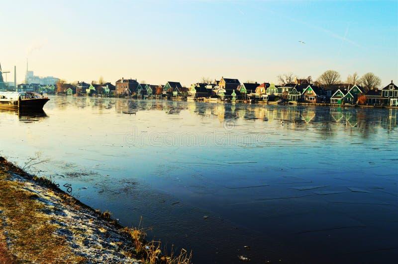 Panoramiczny krajobraz, Holandia zdjęcia royalty free