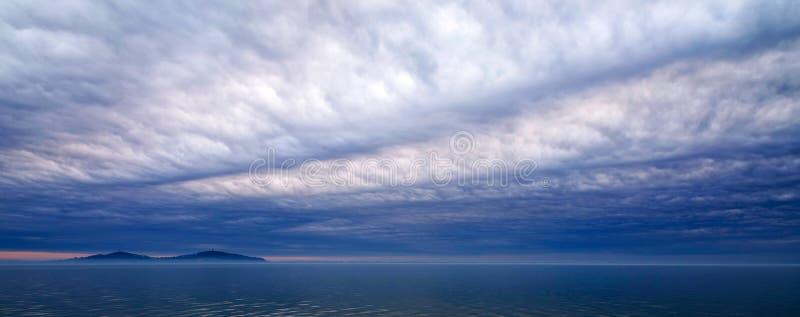 Panoramiczny krajobraz Jeziorny Balaton zdjęcia stock