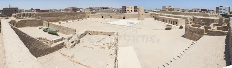 Panoramiczny krajobraz stary ottoman fort zdjęcie stock