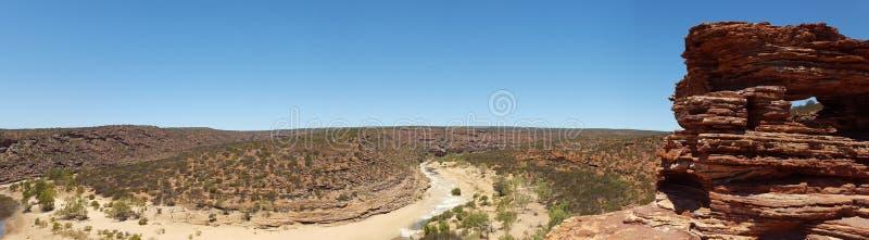 Panoramiczny krajobrazowy Australijski odludzie fotografia stock