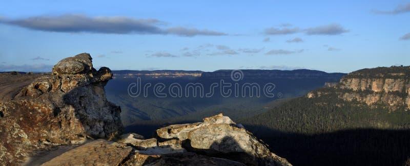 Panoramiczny krajobrazowy widok Grose dolina od Lincoln skały Looko fotografia royalty free