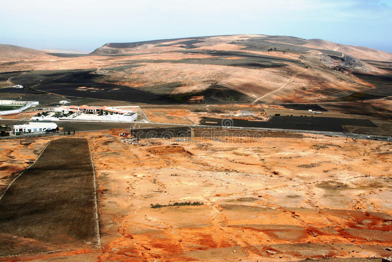 panoramiczny Lanzarote widok zdjęcie stock