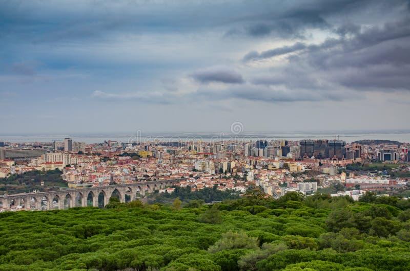 Panoramiczny Lisbon fotografia stock