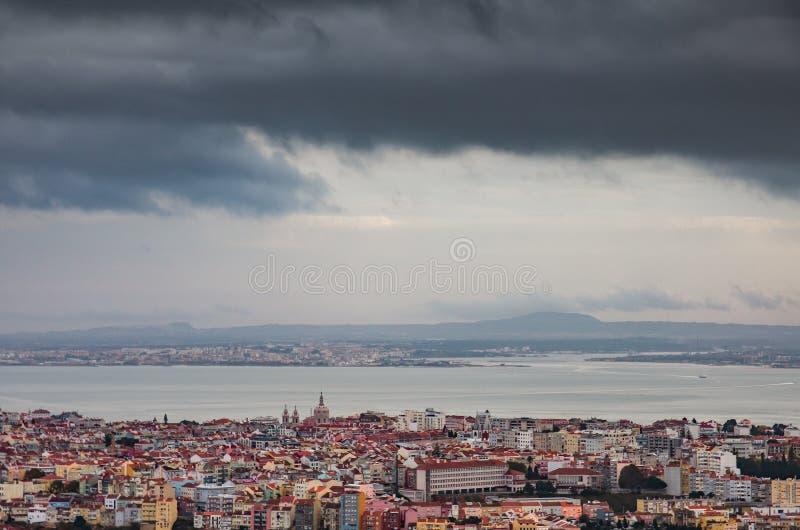 Panoramiczny Lisbon obraz royalty free