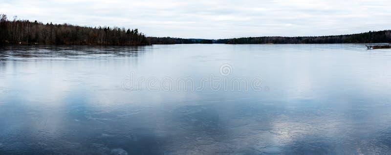 Panoramiczny Lodowy jezioro obraz royalty free