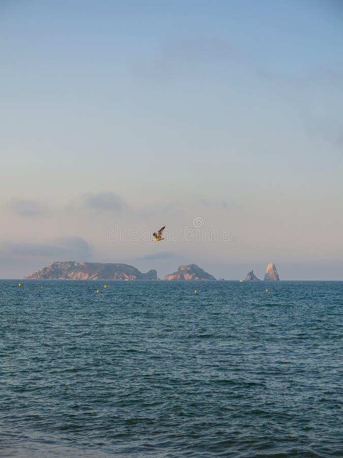 Panoramiczny Medes wyspy w morzu śródziemnomorskim, costar fotografia royalty free