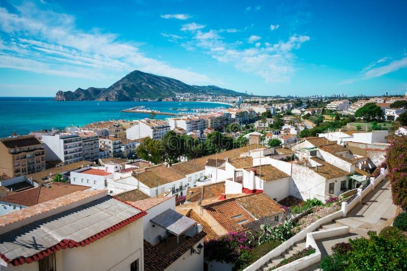 Panoramiczny miasto Altea, Hiszpania obrazy stock