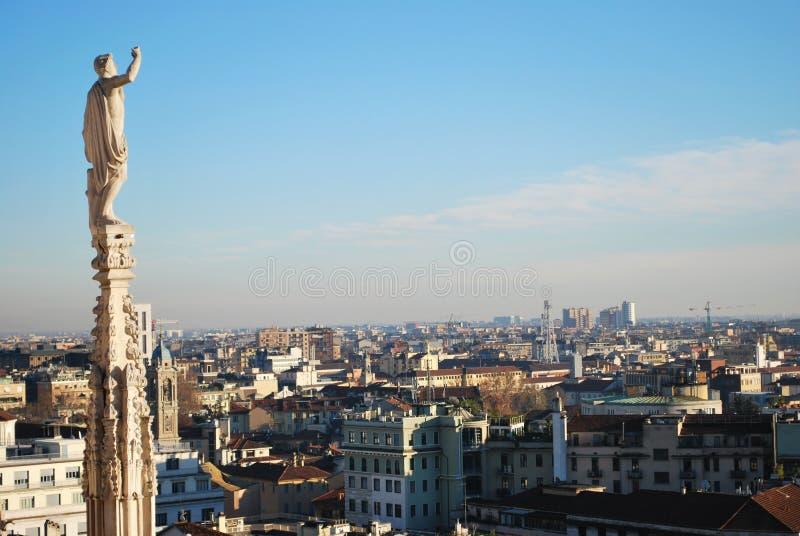 panoramiczny Milan widok zdjęcia royalty free