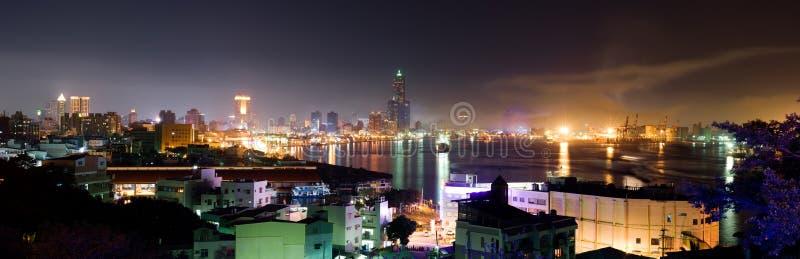 panoramiczny pejzaż miejski kolor zdjęcie royalty free
