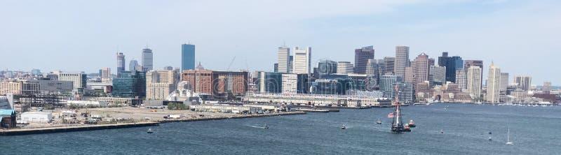 Panoramiczny Quincy zatoka, Boston, MA zdjęcia stock