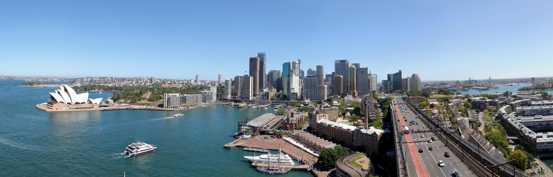 Panoramiczny Sydney widok fotografia royalty free