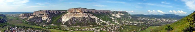 Panoramiczny sztandar z zadziwiającym widokiem Belbeck jar w C obraz stock