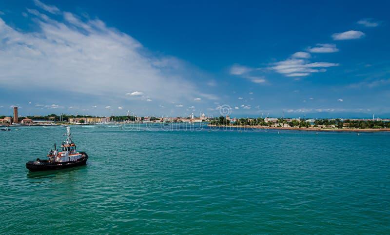 Panoramiczny wejście Wenecja obraz stock