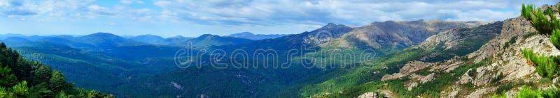 Panoramiczny widok śródlądowym Corsica fotografia royalty free