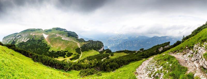 Panoramiczny widok Alps - Austria fotografia royalty free