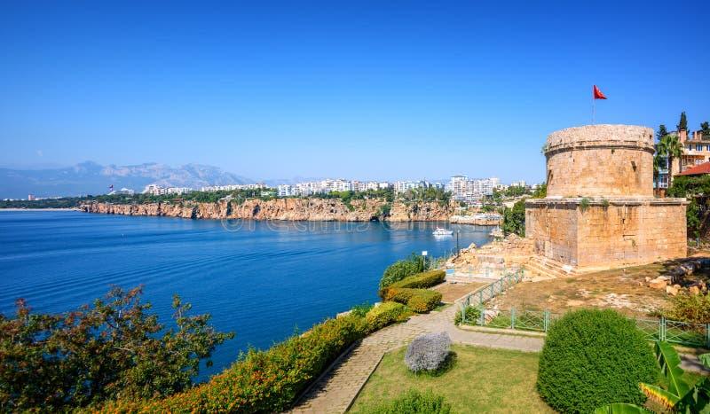 Panoramiczny widok Antalya miasto, Turcja zdjęcie stock