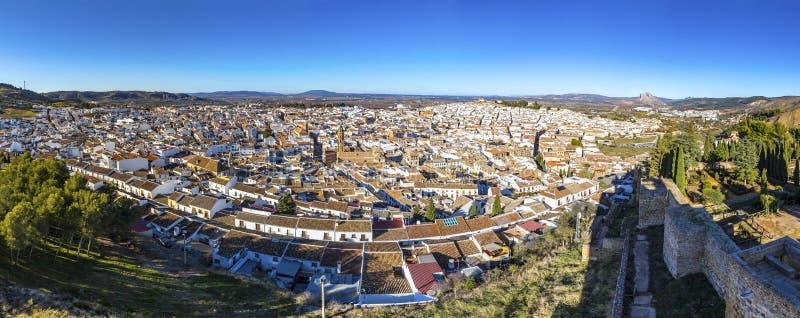 Panoramiczny widok Antequera miasto, prowincja Malaga, Andalusia, Hiszpania obraz royalty free