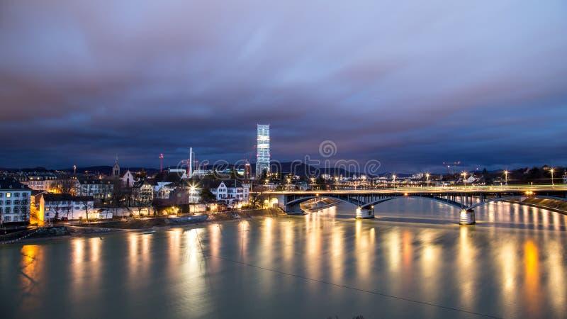 Panoramiczny widok Basel, Szwajcaria obrazy stock