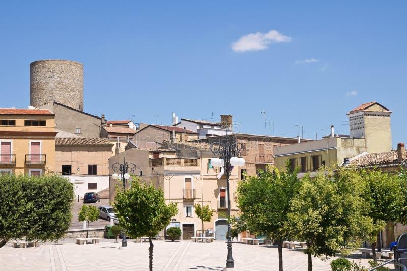 Panoramiczny widok Biccari. Puglia. Włochy. zdjęcia stock