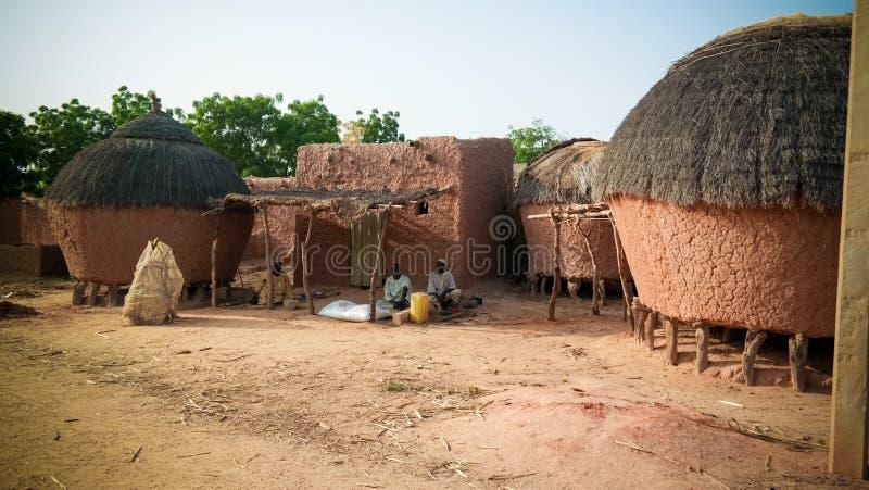 Panoramiczny widok Bkonni wioska Hausa ludzie, Tahoua, Niger obrazy stock