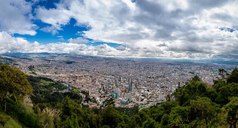 Panoramiczny widok Bogota miasto, Kolumbia obrazy royalty free