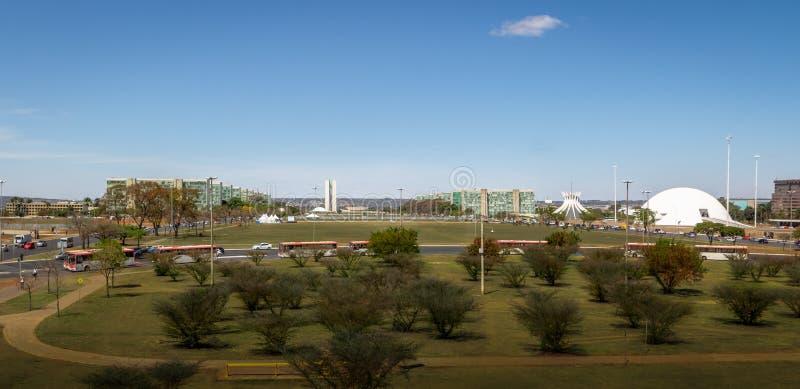 Panoramiczny widok Brasilia, Brasilia -, Distrito Federacyjny, Brazylia fotografia royalty free