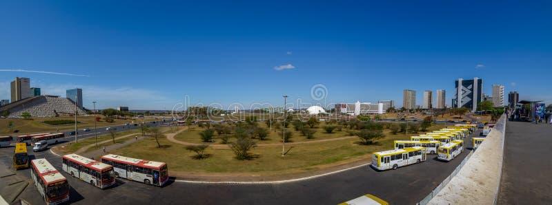 Panoramiczny widok Brasilia, Esplanady dos i -, Distrito Federacyjny, Brazylia zdjęcie royalty free
