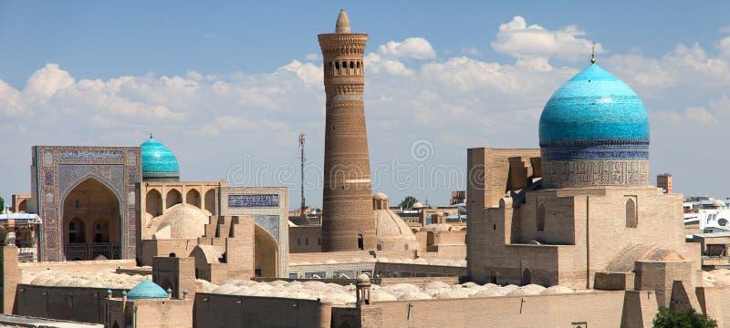 Panoramiczny widok Bukhara od arki zdjęcie stock