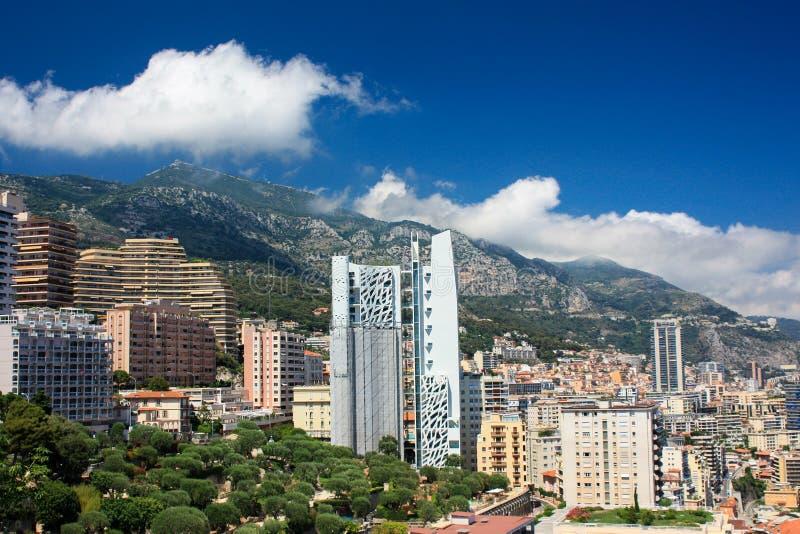 Panoramiczny widok Cannes monte, Carlo, - zdjęcia stock