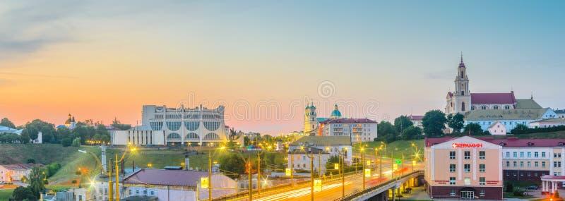 Panoramiczny widok centrum miasta Grodno zdjęcie stock