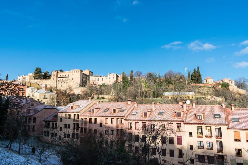 Panoramiczny widok domy w mieście zdjęcia stock