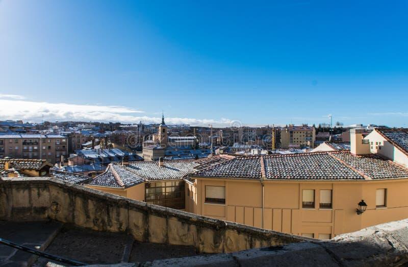 Panoramiczny widok domy w mieście obraz royalty free