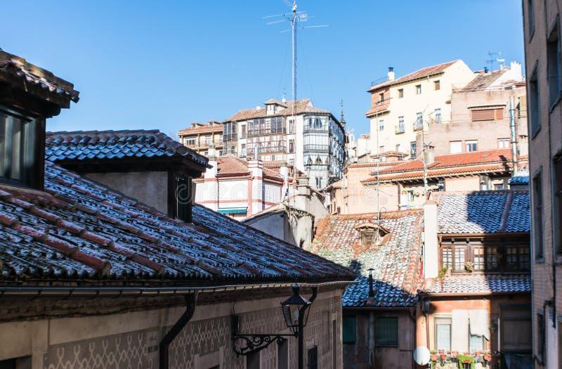 Panoramiczny widok domy w mieście zdjęcia royalty free