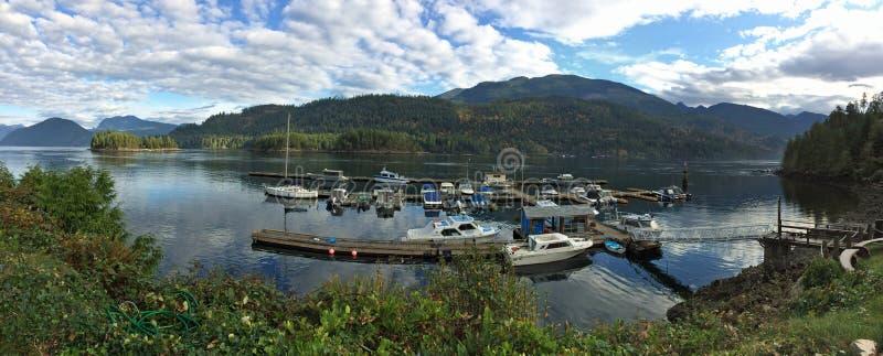 Panoramiczny widok Egmont, BC obraz royalty free