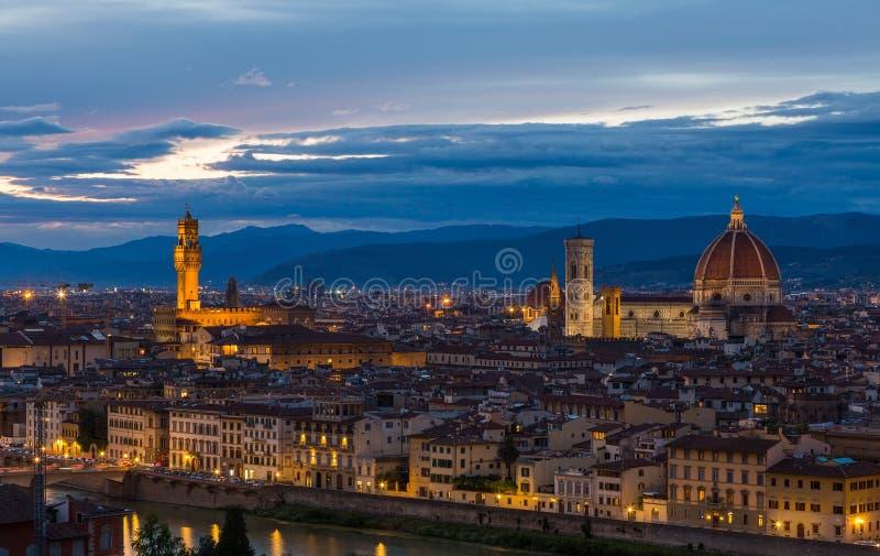 Panoramiczny widok Florencja na zmierzchu zdjęcia royalty free